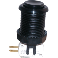 58-9166-L - Black Pushbutton w/ .187 Horizontal Microswitch