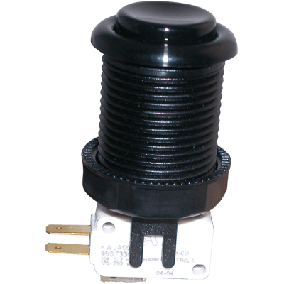 Black Pushbutton with Horizontal Microswitch - 58-9166-L - Item Photo