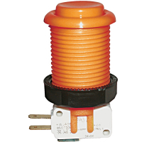 58-9177-L - Orange Pushbutton w/ .187 Horizontal Microswitch