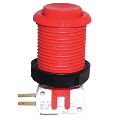 Red Pushbutton with Horizontal Microswitch - 58-9100-L - Item Photo