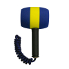 Blue and yellow mallet with tether rope - 51-5002-00