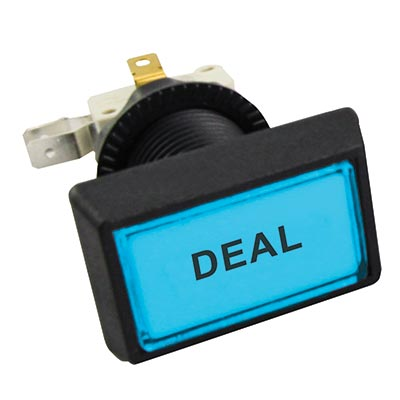 "Illuminated blue Budget Posi-Lok Button, Printed ""Deal"" - 54L-0004-512P12Z - Item Photo"