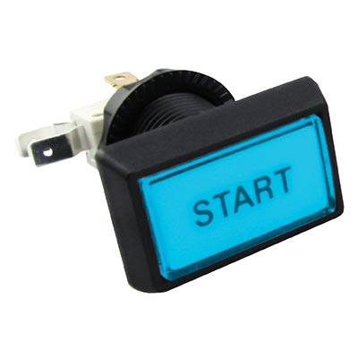 "Budget Posi-Lok Illuminated Buttons, Blue, Printed ""Start"" - 54L-0004-512P1Z - Item Photo"