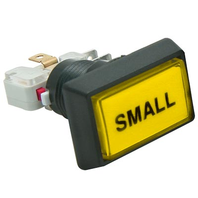 "Yellow Budget Posi-Lok Illuminated Button, Printed ""Small"" - 54L-0004-515P3Z - Item Photo"