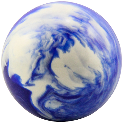 "3"" Blue/White Marble trackball - 55-0200-212 - Item Photo"