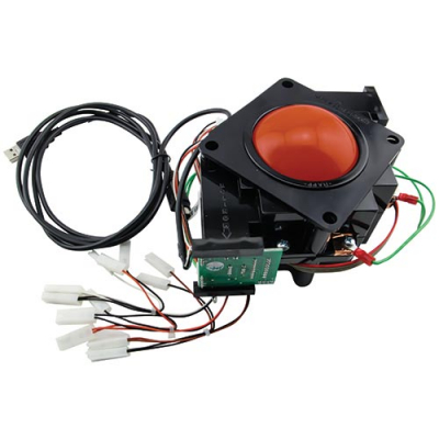 "3"" Translucent Red Trackball Assembly w/ USB PS/2 Interface - 56-0300-10TI12 - Item Photo"
