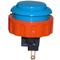 60-1200-12 - PUSHBUTTON SMALL CIRCLE BLUE MOMENTARY CONTACT WITH NUT