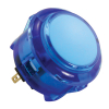 30mm Translucent blue pushbutton momentary contact w/ nut - 60-1400-12