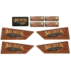 Decal Set for Big Buck Hunter Pro Gun, Set Includes enough Decals for 2 Guns - 606-00069-01
