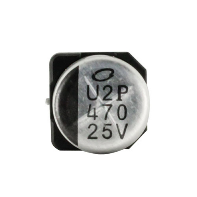 Aluminum Electrolytic Cap 25V,470uf Surface Mount 10mmx10mm 105 - 62-0694-00 - Item Photo
