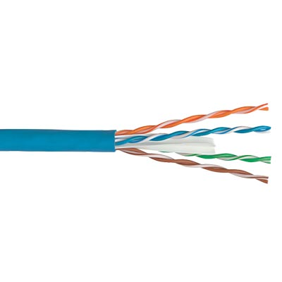CAT6 24 AWG Solid Bare Copper 4 Pair Blue 1 = 1000FT  - 64-0007-16 - Item Photo