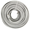 Cat5e 100ft Patch Cord Gray, with RJ45 Connectors, Shielded - 64-0063-100
