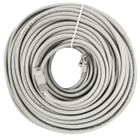 64-0063-100 - Cat5e 100ft Patch Cord Gray, with RJ45 Connectors, Shielded