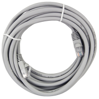 64-0064-15 - Cat5e 15ft Gray Patch Cord with RJ45 Connectors, 24AWG,  Shielded