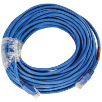 64-0066-50 - Cat6 Crossover Patch Cord 50ft Molded Strain Relief Blue
