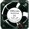 "Cooling Fan, 1.57"" x 1.57"" x 0.79"", 24V, 2 Wire, Ball Bearing, W/ Connector - 70-1006-00"