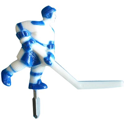 ICE Super chexx Blue/White Short Stick Player - 7010X - Item Photo