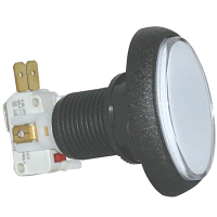75-6004-81 - White clear cap Elliptical Illuminated Pushbutton w/ .250 microswitch