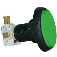 75-6004-83 - Green large oval Elliptical IPB Lamp w/ .250 Microswitch