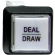 "White small square ""deal/draw"" button w/ .250 micrsowitch #658 - 75-6584-4180177"