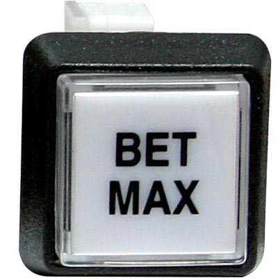 """Bet Max"" Small Square Button White With Clear Cap - 75-6584-4181705 - Item Photo"