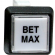 """Bet Max"" Small Square Button White With Clear Cap - 75-6584-4181705"