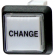 """Change"" Small Square Button White With Clear Cap - 75-6584-418HP609"