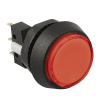Small Round Red Combo Illuminated Pushbutton - 75V-0004-20