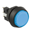 Small Round Blue Combo Illuminated Pushbutton - 75V-0004-22