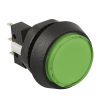 Small Round, Green Combo Illuminated Pushbutton - 75V-0004-23