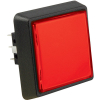 Large Square Red Combo Illuminated Pushbutton - 75V-0004-30