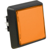 Amber (Orange) LArge Square Combo Illuminated Pushbutton - 75V-0004-35