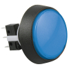 Medium Round Blue Combo Illuminated Pushbutton - 75V-0004-62