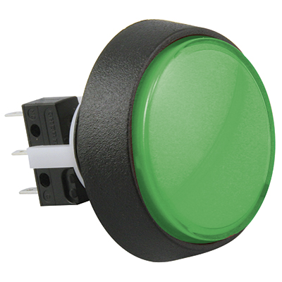 Medium Round Green Combo Illuminated Pushbutton - 75V-0004-63 - Item Photo