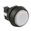 Small Round White Combo Illuminated Pushbutton - 75V-0004-21