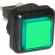 Green Small Square VLT Pushbutton #86 - 77-2000-43