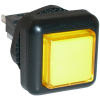 Yellow Small Square VLT Pushbutton #86 - 77-2000-45