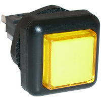 77-2000-45 - Yellow Small Square VLT Pushbutton #86