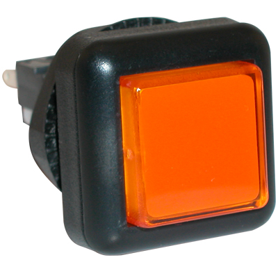 Small Square VLT Pushbutton, Amber (Orange) - 77-2000-47 - Item Photo