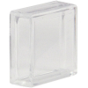 Clear Small Square Lens Cap pushbutton - 77-3410-08