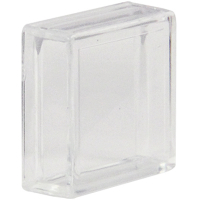 77-3410-08 - Clear Small Square Lens Cap pushbutton