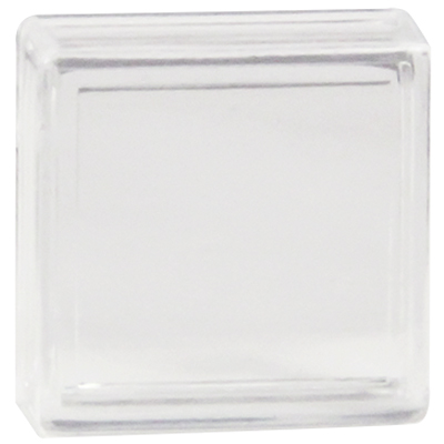Clear Small Square Lens Cap pushbutton - 77-3410-08 - Item Photo