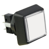 Small Square White Combo Illuminated Pushbutton - 75V-0004-41