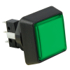 Small Square, Green Combo Illuminated Pushbutton - 75V-0004-43