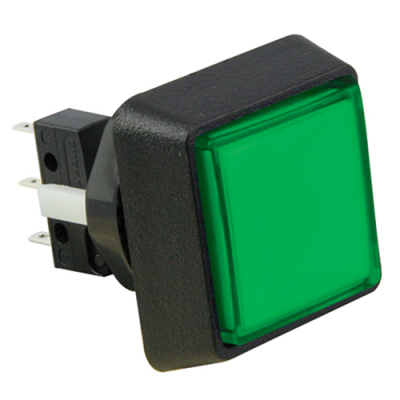 Green Small Square Combo IPB w/ .110 microswitch #73 - 75V-0004-43 - Item Photo