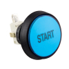 Blue large round IPB start button w/ .250 micro switch - 75-0004-1221044