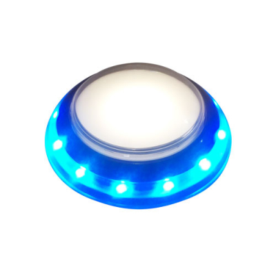 Jumbo RGB LED UFO Style IPB, Black Trim, 12VDC - 75-0029-00 - Item Photo