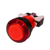 LED LIT RED PUSHBUTTON 12v LED W/LAMPHOLDER .187 SWITCH - 75-0033-W187