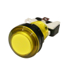 LED LIT YELLOW PUSHBUTTON 12v LED W/LAMPHOLDER .187 SWITCH - 75-0034-W187