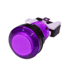 LED LIT PURPLE PUSHBUTTON 12v LED W/LAMPHOLDER .187 SWITCH - 75-0041-W187